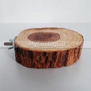 چوب نشیمن گرد طبیعی طوطی سانان و عروس هلندی 10سانتی