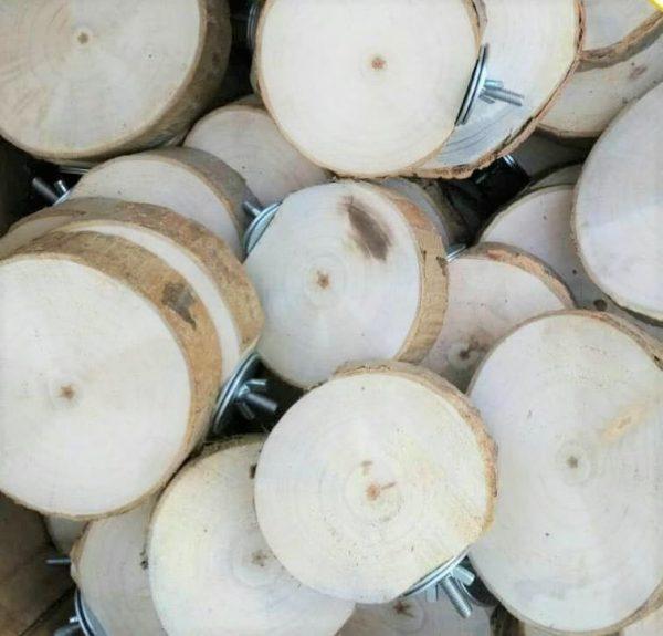 چوب نشیمن گرد طبیعی 10سانتی