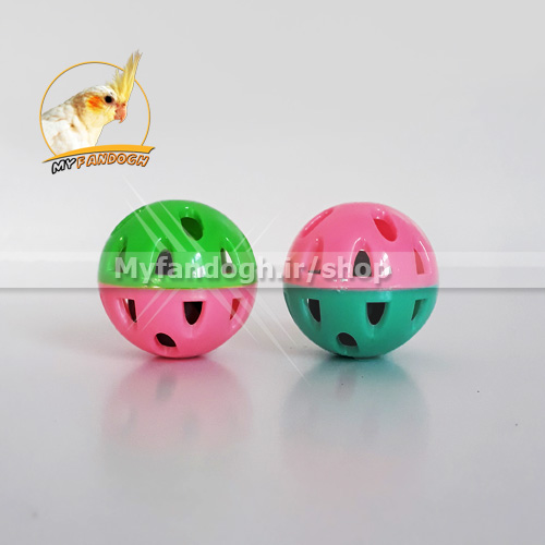 توپ بازی زنگوله ای سایز کوچک