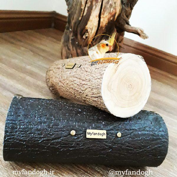 کیف لوازم التحریر و لوازم آرایش طرح چوب