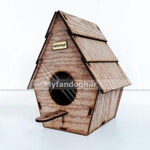 لانه چوبی پرندگان کوچک جثه طرح کاج