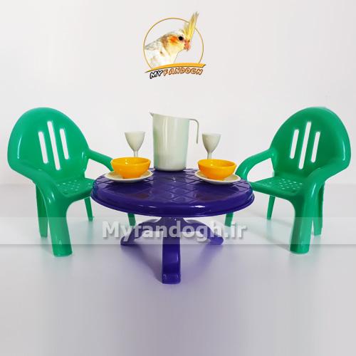 میز و صندلی غذاخوری پرندگان و طوطی سانان