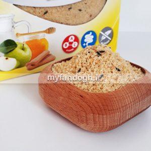 غذای خشک سیب و عسل طوطی سانان و پرندگان زینتی
