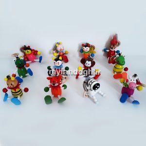 آویز عروسک های چوبی پدر ژپتو و پینوکیو