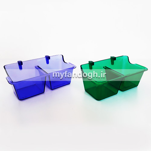 ظرف کریستالی دو قلو آب، غذا و سبزیجات پرندگان