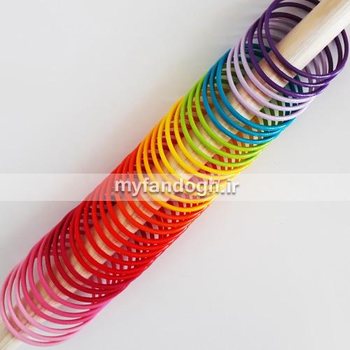 حلقه های رنگی آموزشی و بازی طوطی سانان سایز 1