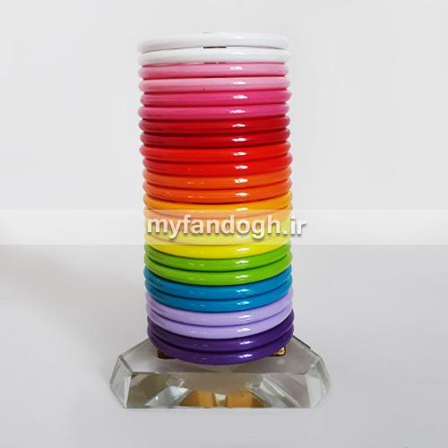 حلقه های رنگی آموزشی و بازی طوطی سانان سایز 2