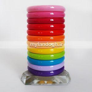 حلقه های رنگی آموزشی و بازی طوطی سانان سایز 3