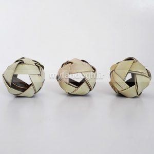 توپ بازی و تزئینی حصیری 5 ضلعی