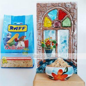 خوراک میوه ای غنی شده با عسل کلیه پرندگان و طوطی سانان RAFF Delicate Mix