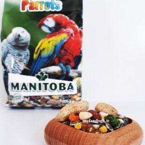 خوراک میکس طوطی سانان متوسط و بزرگ جثه MANITOBA All Parrots